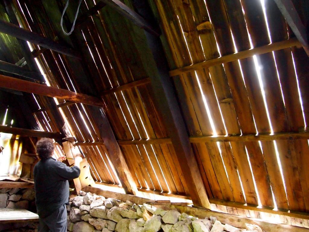 Interno del katun di Milovan.